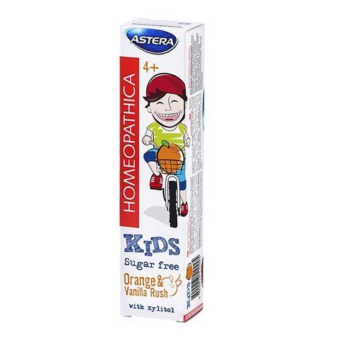 Astera Homeopathica Kids 4+ Детска паста за зъби с вкус на портокал 50 мл