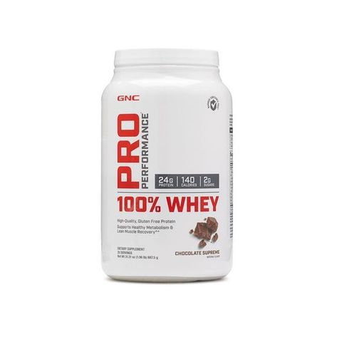 GNC Pro Performance 100% Whey Protein Chocolate Supreme Суроватъчен протеин 887.5 г х25 дози