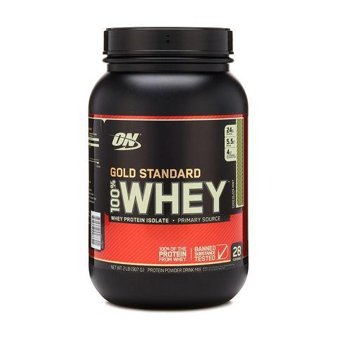 Optimum Nutrition Gold Standard 100% Whey Суроватъчен протеин Шоколад и мента х896 грама