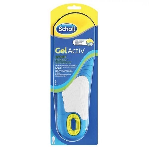 Scholl Gel Activ Стелки за спорт - мъжки х2 броя