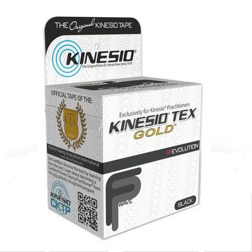 Kinesio Tex Gold Терапевтична лента Черна 5см х 5м
