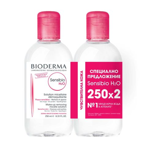 Bioderma Sensibio H2O Промо комплект Мицеларна Вода за лице за чувствителна кожа 2x250 мл