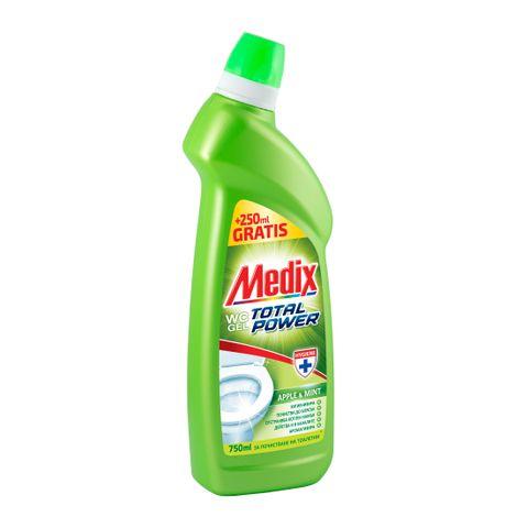 Medix Wc Power Apple & Mint Почистващ препарат за тоалетна x750 мл
