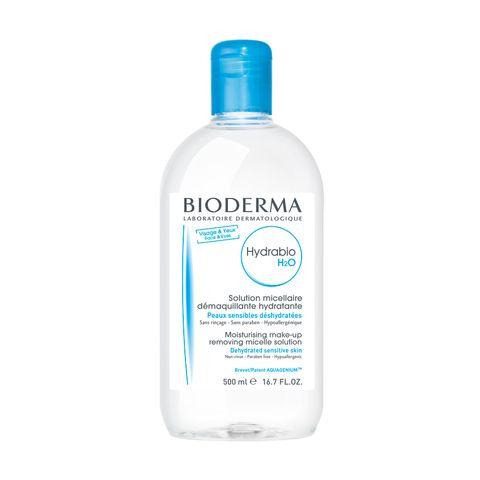 Bioderma Hydrabio H2O Почистваща мицеларна вода за лице за дехидратирана кожа x500 мл