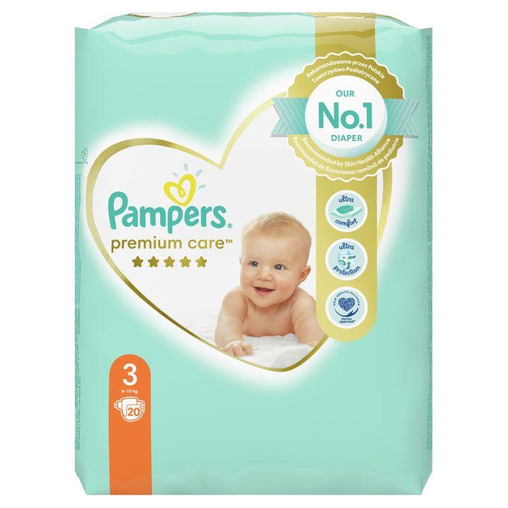 Pampers Premium Care 3 Midi Бебешки пелени 6-10 кг х20 броя