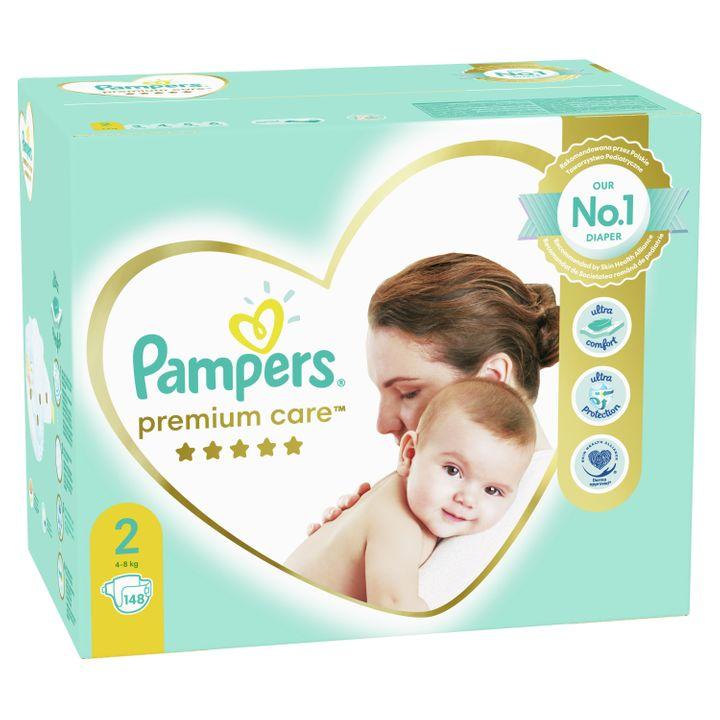Pampers Premium Care 2 Бебешки пелени 4-8 кг х148 броя