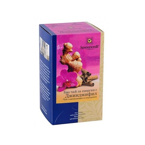 Sonnentor Био чай за енергия с джинджифил х18 пакетчета