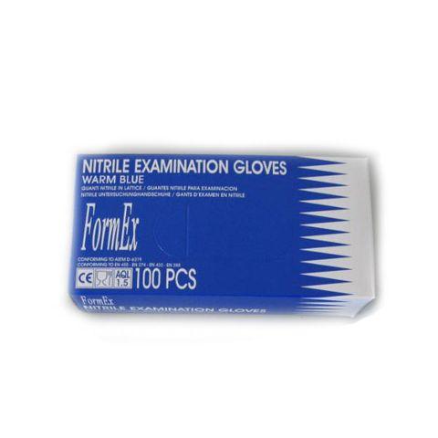 Formex Еднократни ръкавици от нитрил без талк, цвят син, размер L х100 броя