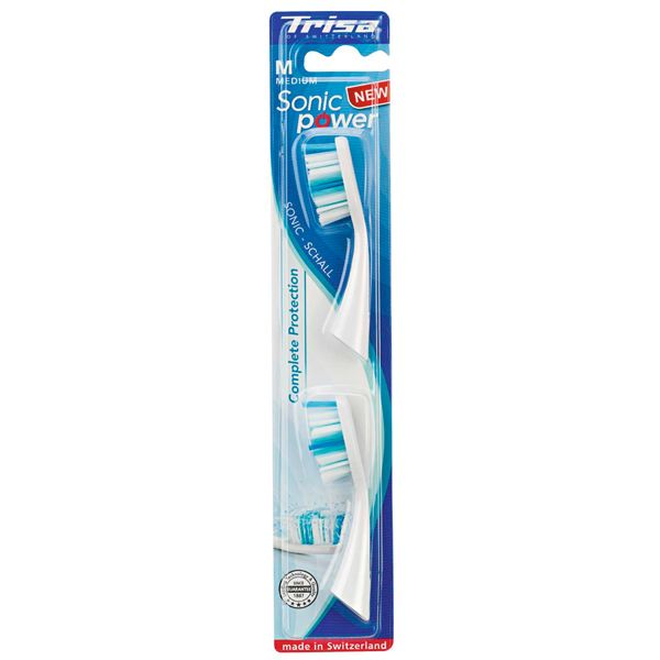 Trisa Sonic Power Complete Protection Накрайник за електрическа четка за зъби х2 броя