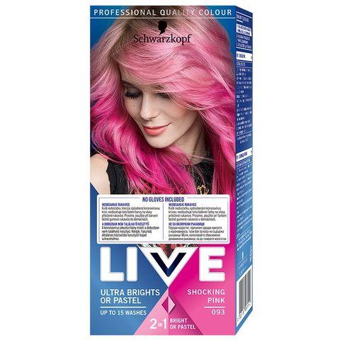 Live Ultra Brights or Pastel Боя за коса с трайност до 15 измивания, цвят 093 Shocking Pink