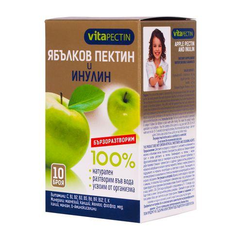 VitaPectin 100% Натурален разтворим ябълков пектин и инулин х10 сашета