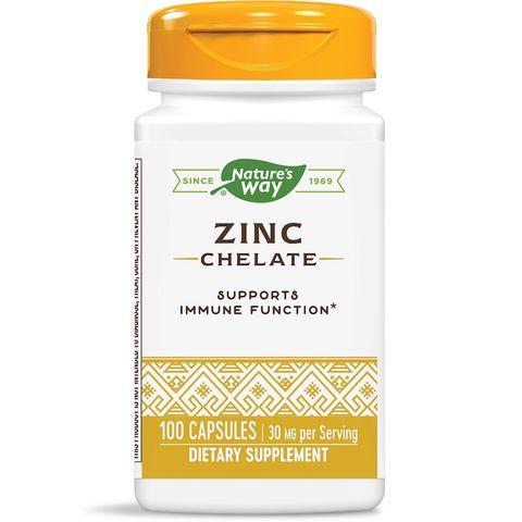 Цинк хелат за добър жизнен тонус 30 мг х100 капсули Nature's Way