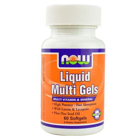 Now Foods Liquid Multi Gels Течни мултивитамини х60 софтгел капсули