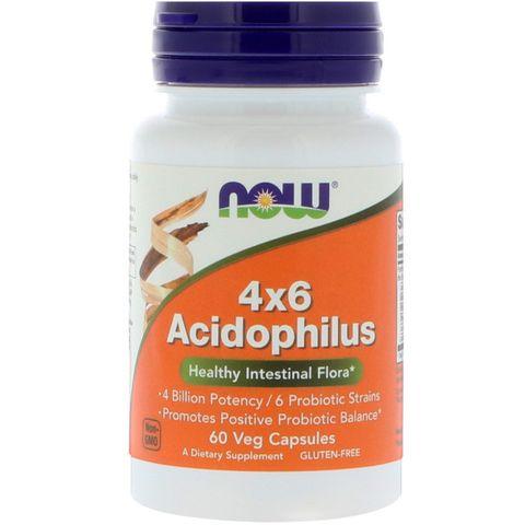 Now Foods Acidophilus 4Х6 Пробиотик за здравословна перисталтика х60 капсули