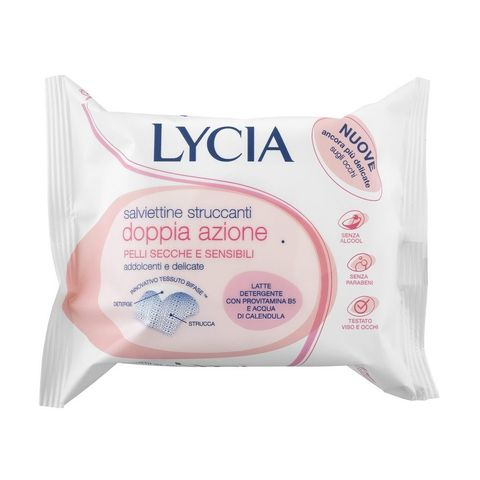 Lycia Мокри кърпи за лице и очи за суха и чувствителна кожа х20 броя