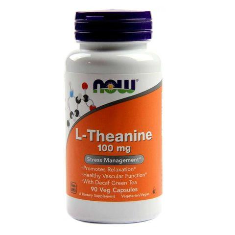 Now Foods L-Theanine При депресия и стрес 100 мг х90 капсули