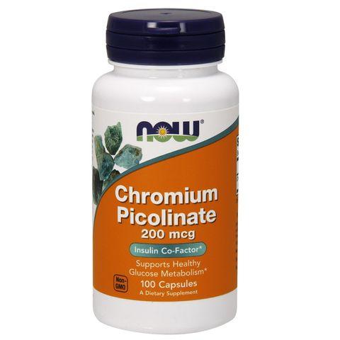 Now Foods Хром Пиколинат при висока кръвна захар 200мг х100 капсули
