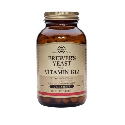 Solgar Бирена мая с витамин В12 х250 таблетки
