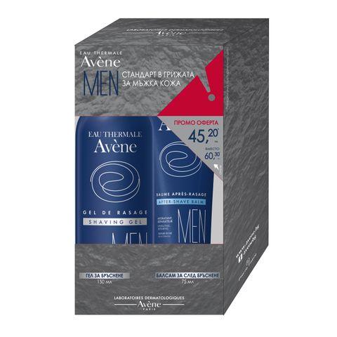 Avene Men Промо комплект  Гел за бръснене за мъже и Балсам за след бръснене