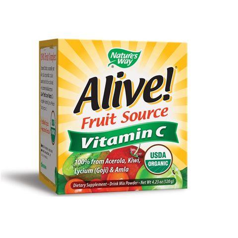 Alive Витамин С на прах х120 грама Nature's Way