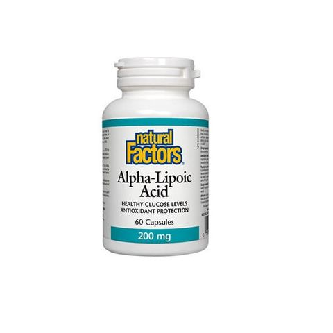 Natural Factors Алфа-липоева киселина При наднормено тегло 200 мг x60 капсули