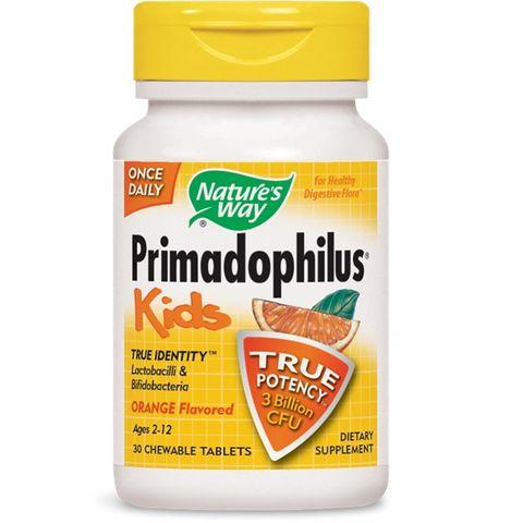 Primadophilus Kids Активни пробиотици с вкус на портокал 68 мг х30 дъвчащи таблетки Nature's Way