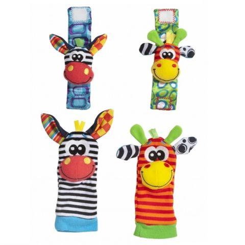 Playgro Гривни-дрънкалки и чорапки Джунгла за деца над 0 месеца - 0328