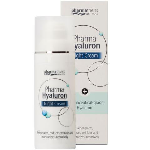 Pharma Hyaluron Регенерериращ нощен крем против бръчки за лице с хиалурон x50 мл