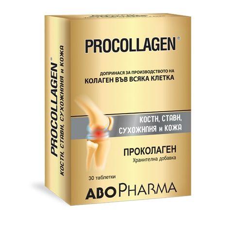 Проколаген за здрави стави, кости, сухожилия и кожа х30 таблетки Abopharma