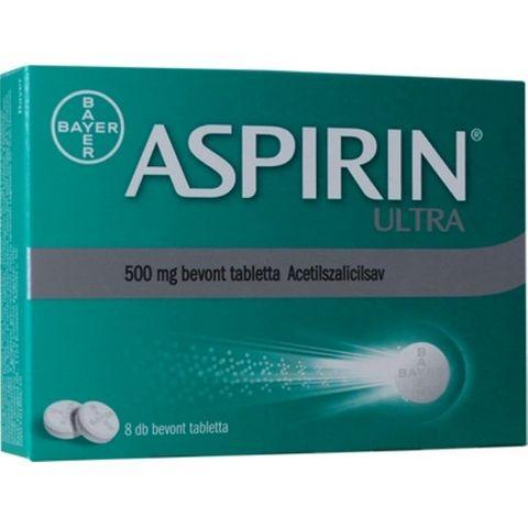 Bayer Аспирин Ултра 500 мг х8 обвити таблетки
