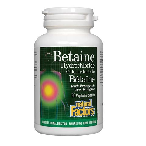 Natural Factors Бетаин хидрохлорид 500мг х90 капсули