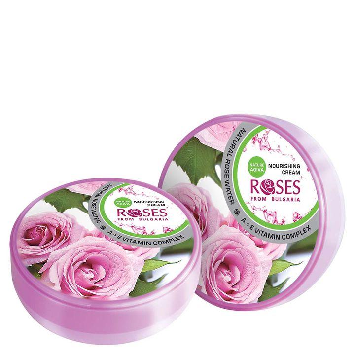 Nature of Agiva Подхранващ крем за лице с розова вода и витамин А и Е х100 мл