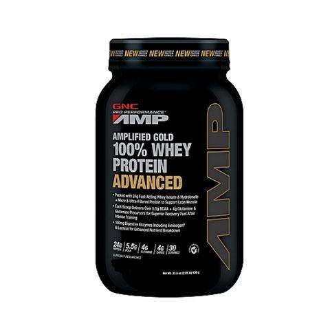 GNC Pro Performance AMP Amplified Gold 100% Суроватъчен протеин с вкус на Бисквитка и Крем x930г