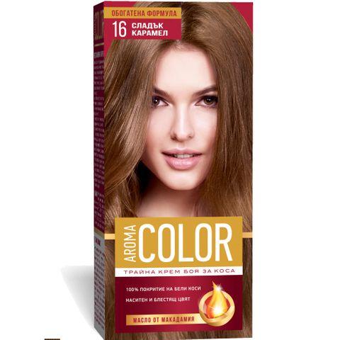 Aroma Color Дълготрайна крем-боя за коса, цвят 16 Сладък карамел