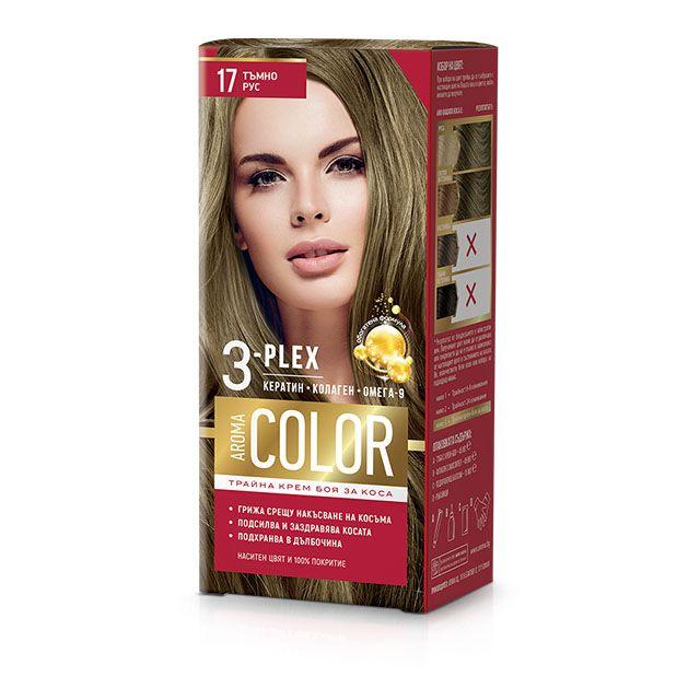 Aroma Color Дълготрайна крем-боя за коса, цвят 17 Тъмно рус