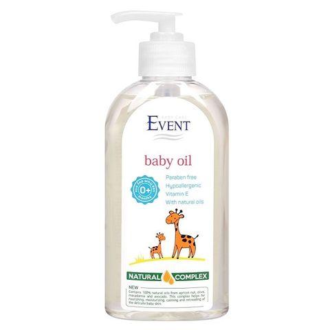Event Baby Бебешко олио за тяло с натурални масла х200 мл