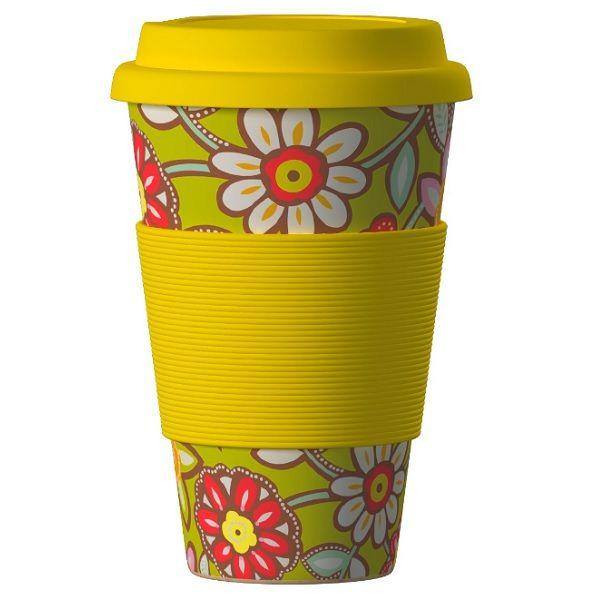 Еко чаша от бамбук, Маргаритки жълта