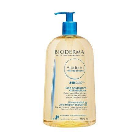 Bioderma Atoderm Душ олио за 24-часова хидратация за суха, много суха и атопична кожа x1000 мл