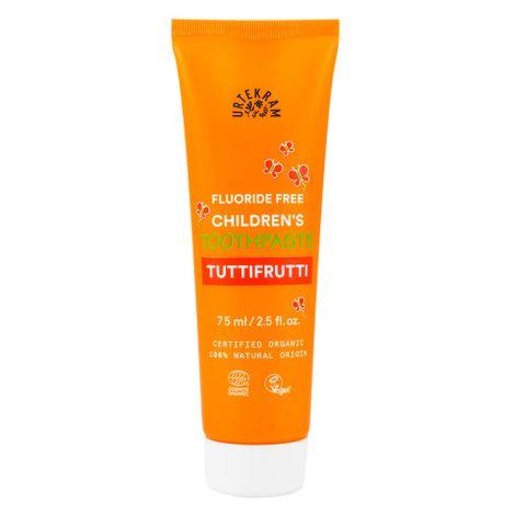 Urtekram Tuttifrutti Детска био паста за зъби без флуорид х75 мл