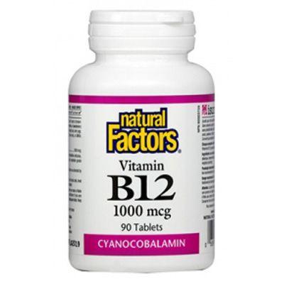 Natural Factors  Витамин В12 1000мкг х90 таблетки