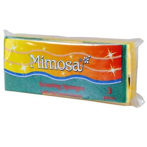 Mimosa Scouring Sponges Домакинска гъба x3 броя