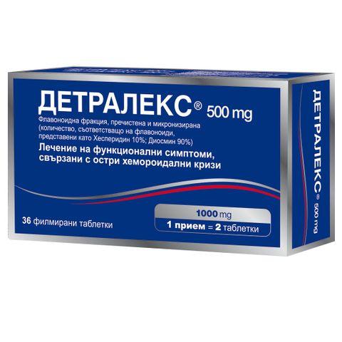 Детралекс при хемороиди 500мг х36 таблетки
