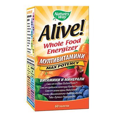 Alive Max Potency Мултивитамини с максимален ефект х60 таблетки Nature's Way