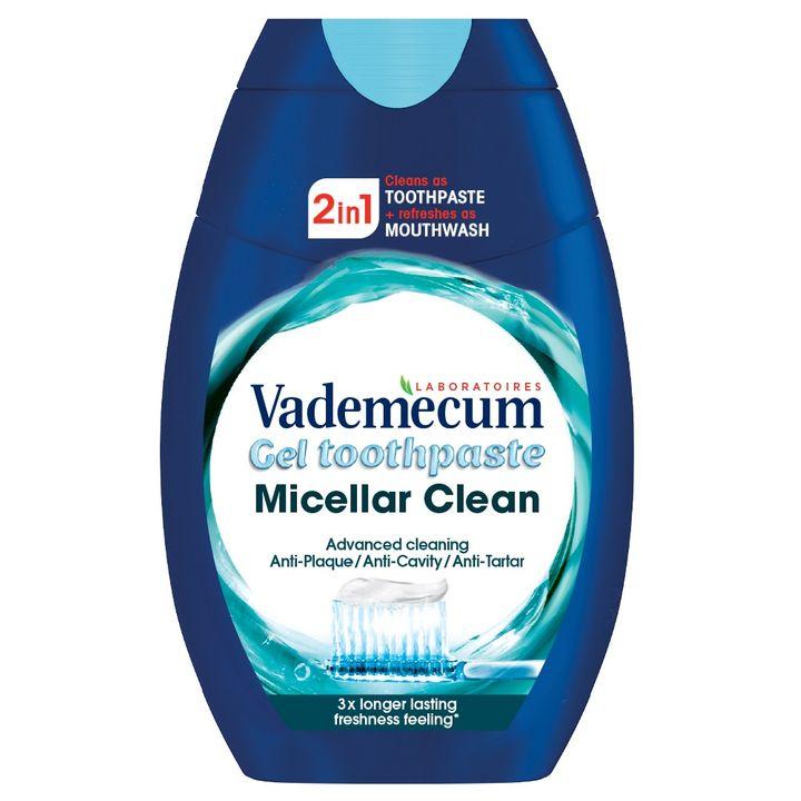 Vademecum Micellar Clean 2 in 1 Гел паста за зъби х75мл