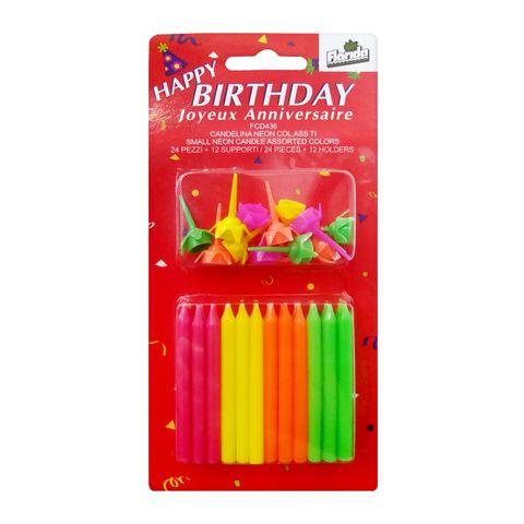 Florida Happy Birthday Свещи за рожден ден x24 броя