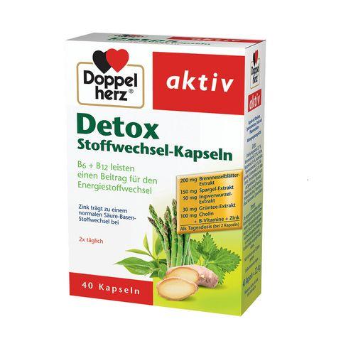Doppelherz Aktiv Detox Комплекс за нормален метаболизъм и детоксикация x40 таблетки