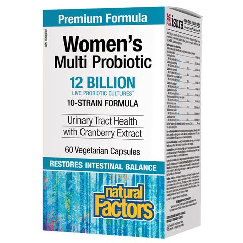 Natural Factors Мулти пробиотик за жени с червена боровинка CranRich х60 капсули