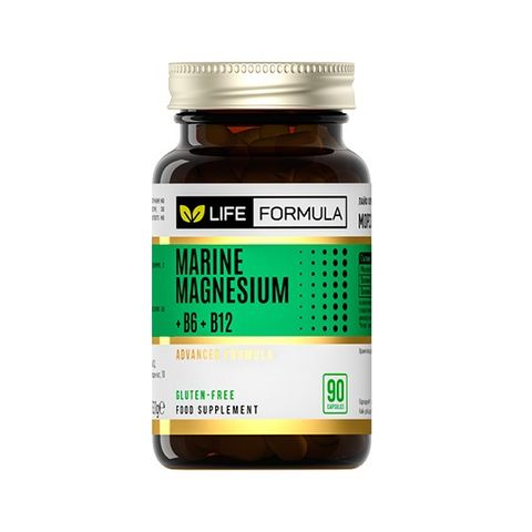 Life Formula Морски магнезий, витамин B6 и B12 х90 капсули