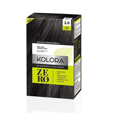 Kolora Zero Безамонячна полутрайна крем-боя за коса 2.0 Тъмно кадифе