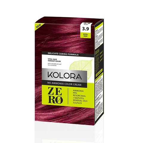 Kolora Zero Безамонячна полутрайна крем-боя за коса 3.9 Кралски рубин
